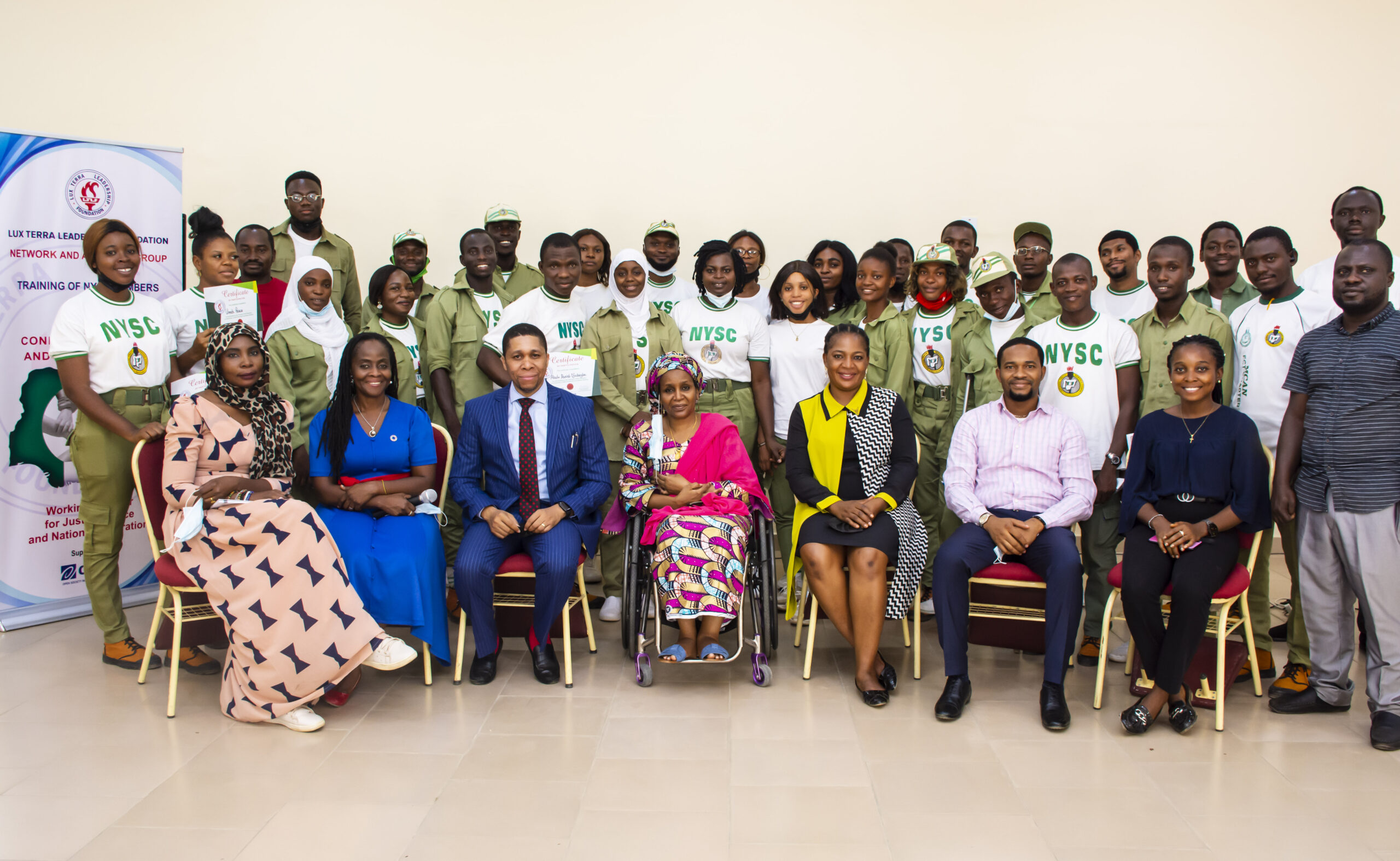 LUX TERRA LEADERSHIP FOUNDATION TRAINS NYSC MEMBERS ON CONFLICT PREVENTION, CITIZENSHIP AND NATION BUILDING