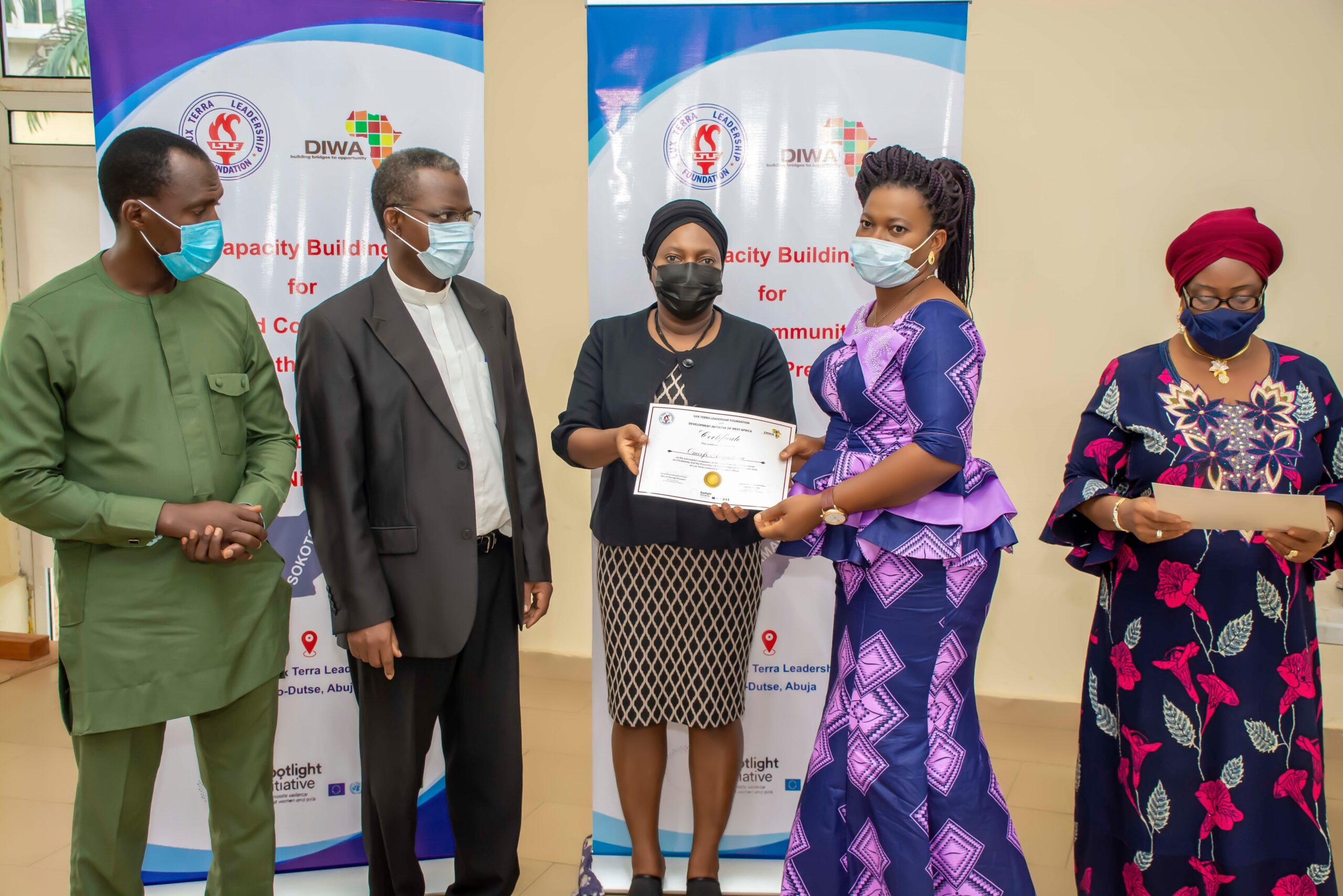 TRAINING OF RELIGIOUS AND COMMUNITY LEADERS ON THE PREVENTION OF VIOLENCE AGAINST WOMEN AND GIRLS ENDS WITH A GRADUATION CEREMONY